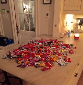 candy on counter