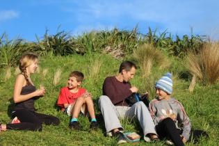 family-picninc-sunset