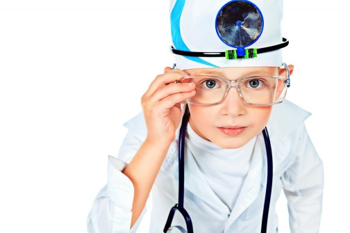 kid playing doctor